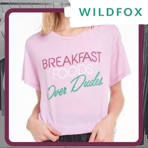 NWT WILDFOX Foods Over Dudes Man T-Shirt